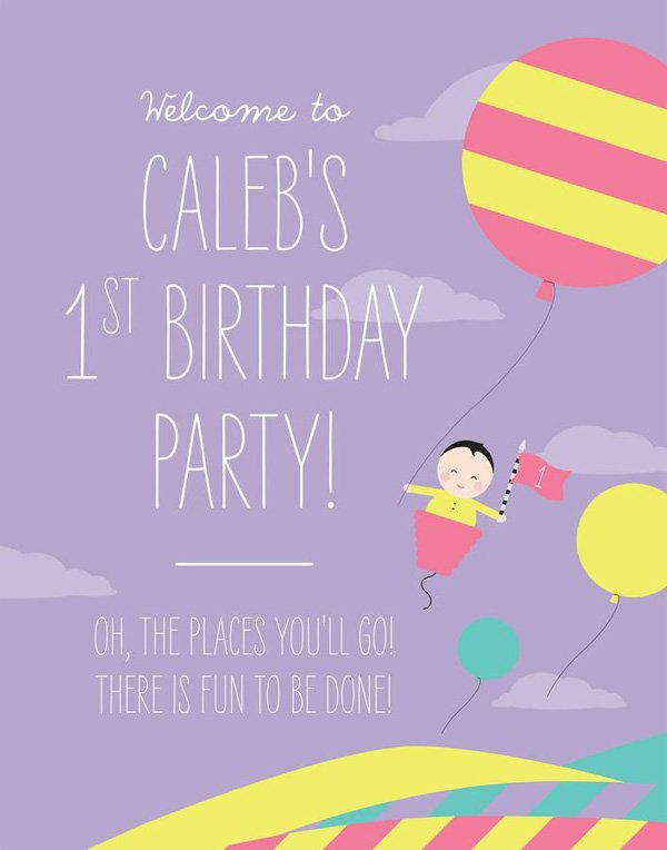 modern seuss birthday party welcome sign