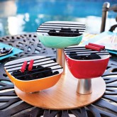 mini bbq grill centerpiece for a summer party