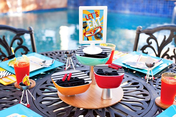 diy charcoal grill centerpiece