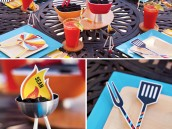 modern summer barbecue party table decorations