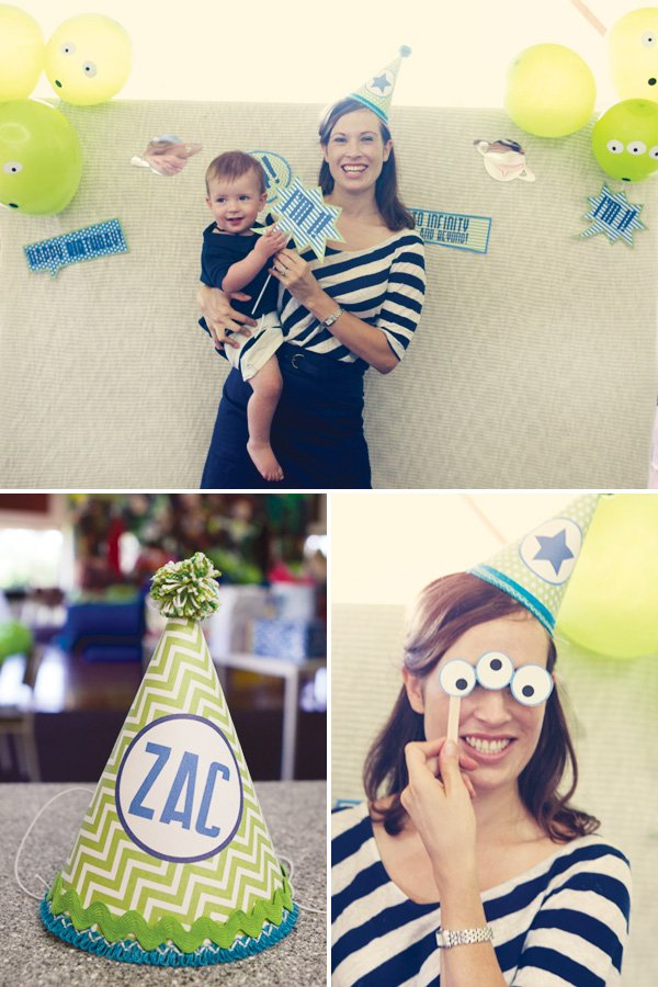 modern toy story birthday party photo booth
