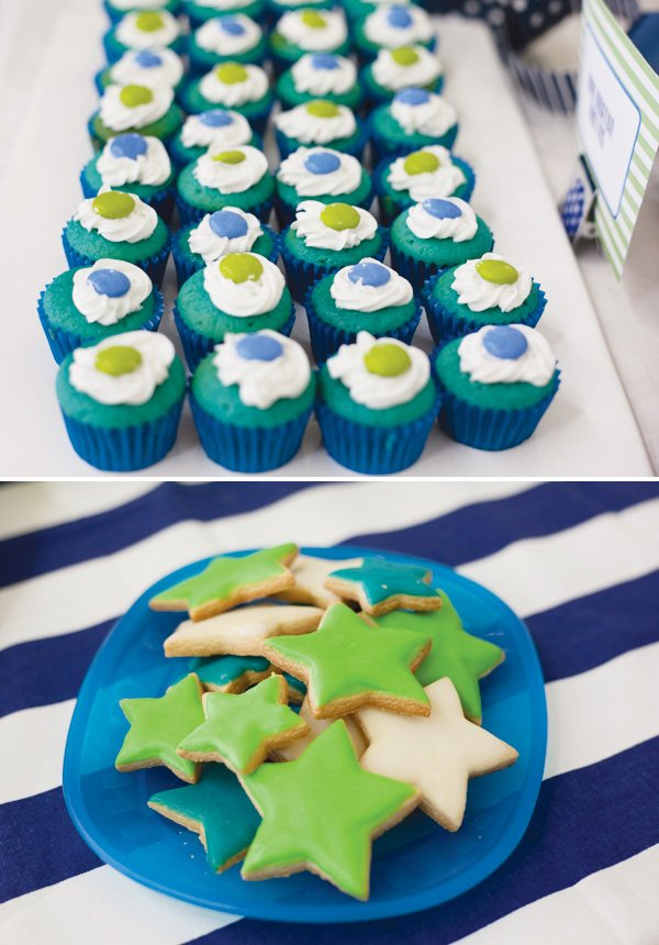 modern toy story birthday party star cookies