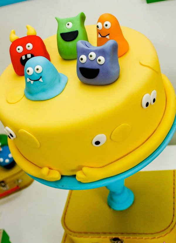 monster birthday cake