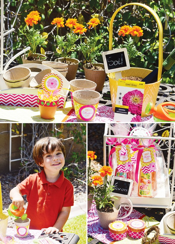 mother's day lunch planting project to give mom as a gift