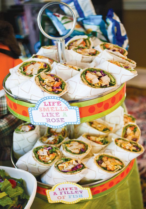 muppet party wraps and food station