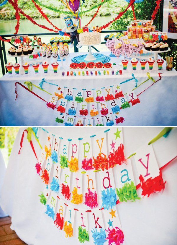 muppet theme bunting banner