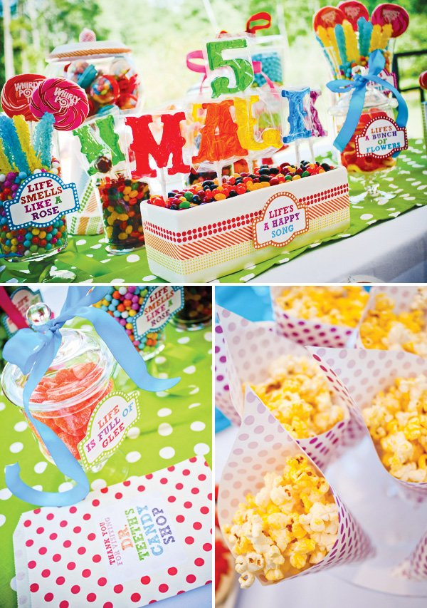 muppet themed birthday party candy bar