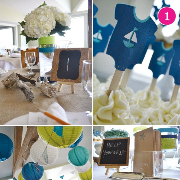 nautical beach baby shower by the sesa
