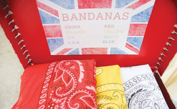 olympic themed birthday party bandanas