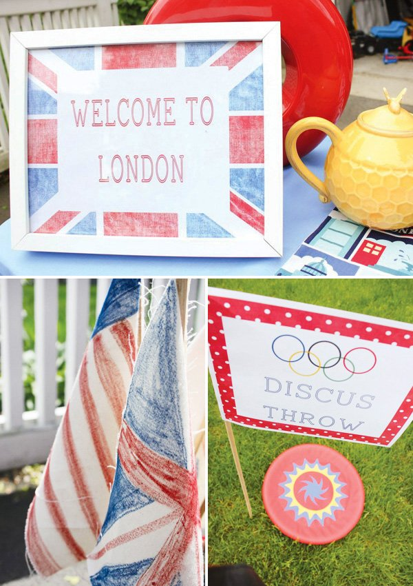 olympics themed birthday party decorations
