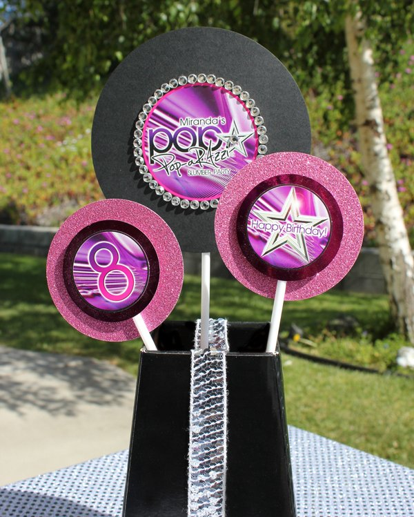 look for less party printables as a centerpiece