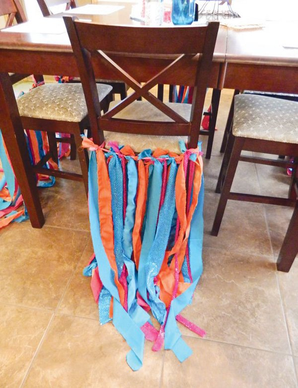 Peace & Love Baby Shower chair streamers