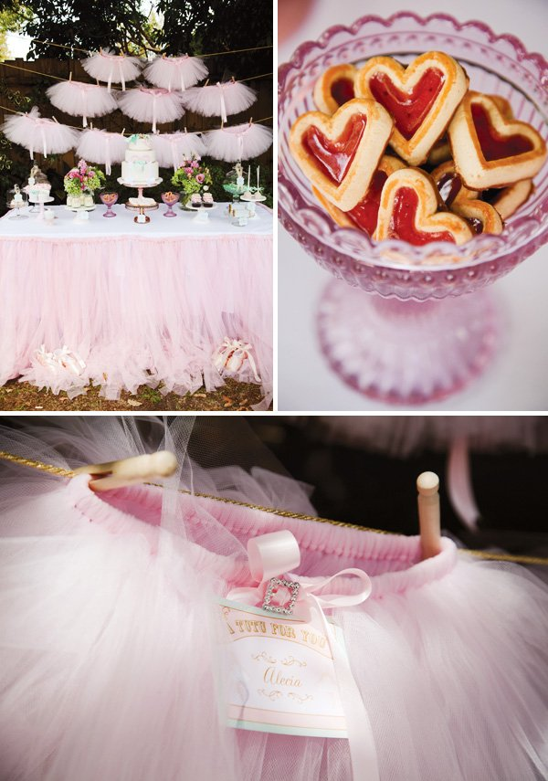 pink tutu bunting decoration for a ballerina party