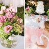 pink ballerina and tutu party florals