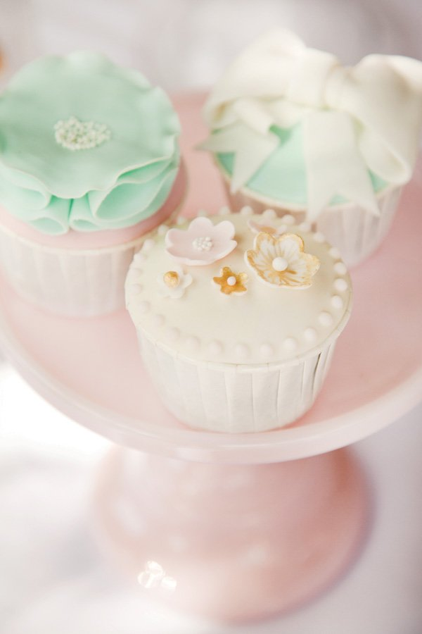 pink tutu party flower cupcakes
