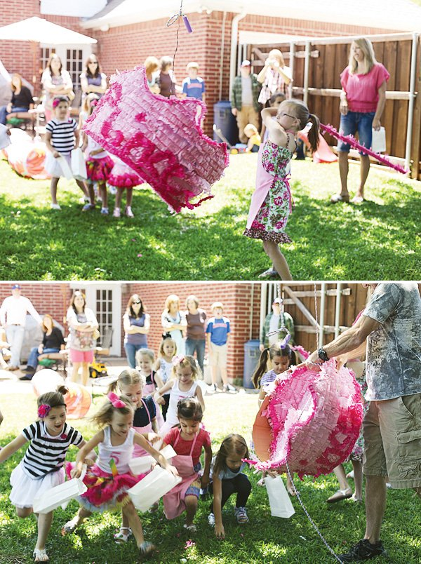 pink cooking party pinata