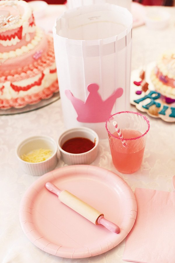 pink crown princess chef hat