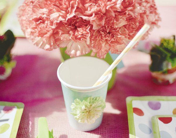 flower party cup