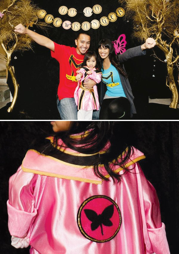 pink power ranger party birthday girl outfit