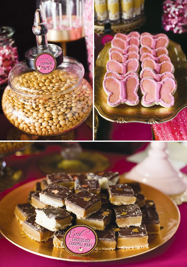 pink power ranger party sweets
