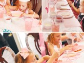 pink princess cooking party with make your own pizza and cupcake decorating