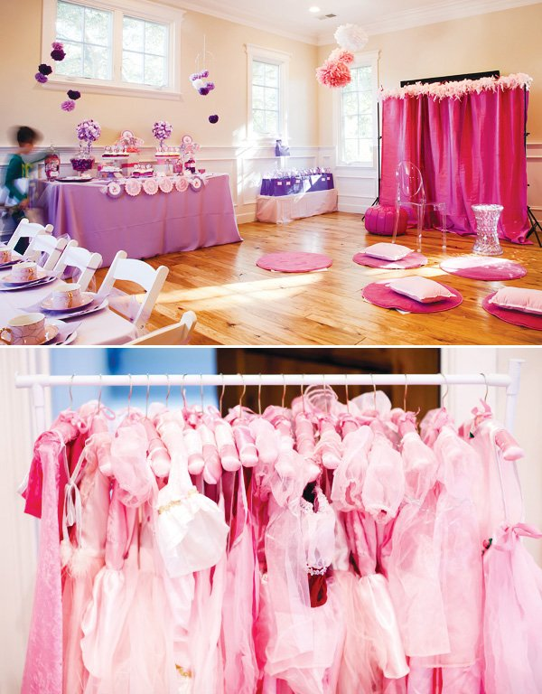 pink and purple princess party dress up outfits