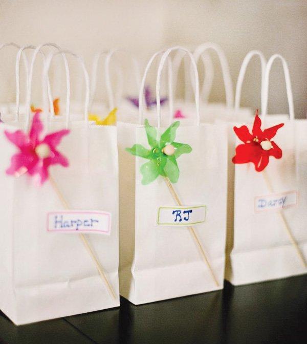 pinwheel party theme favors