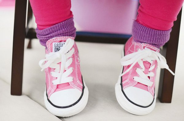 pinwheel party theme pink converse