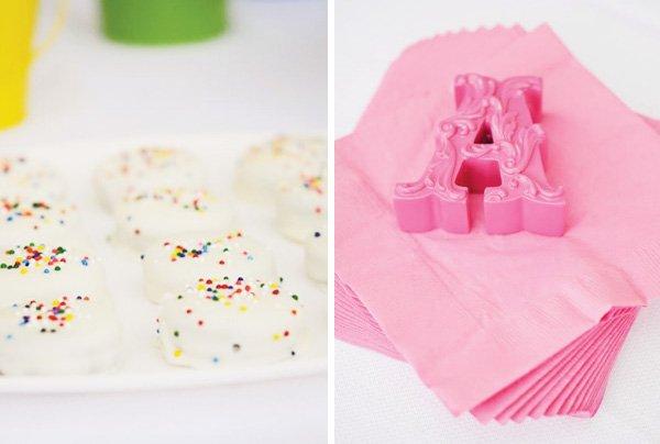 pinwheel party theme rainbow sprinkles