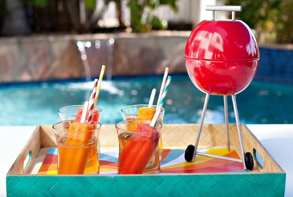 popsicle cocktails and DIY mini BBQ