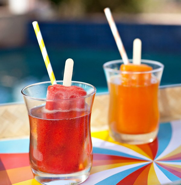 popsicle cocktails - strawberry and tangerine - hwtm