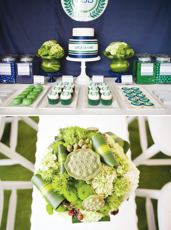 ralph lauren inspired preppy polo party dessert table