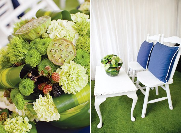 ralph lauren inspired preppy polo party floral arrangement ideas
