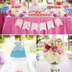 disney princess birthday party dessert table