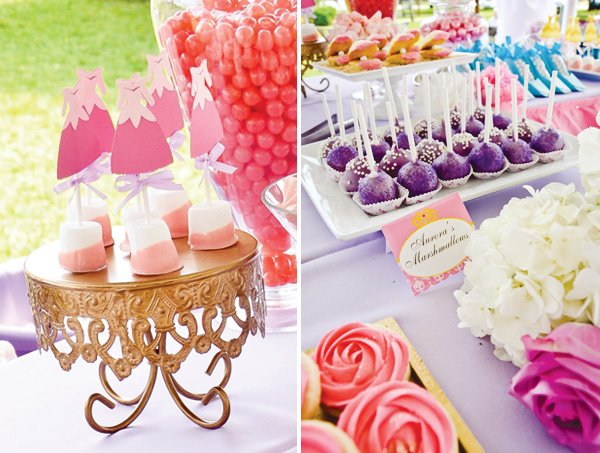 disney princess birthday party cake pops