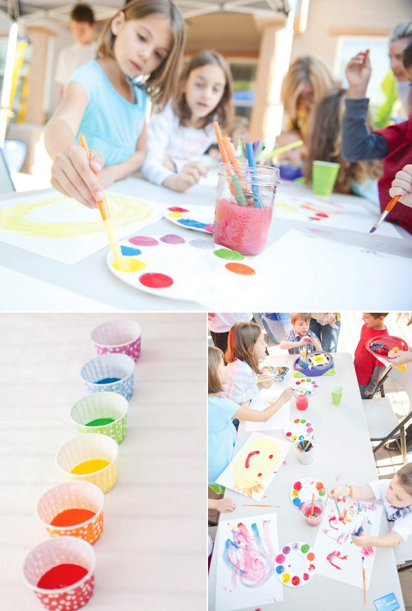 rainbow paint party artist tools