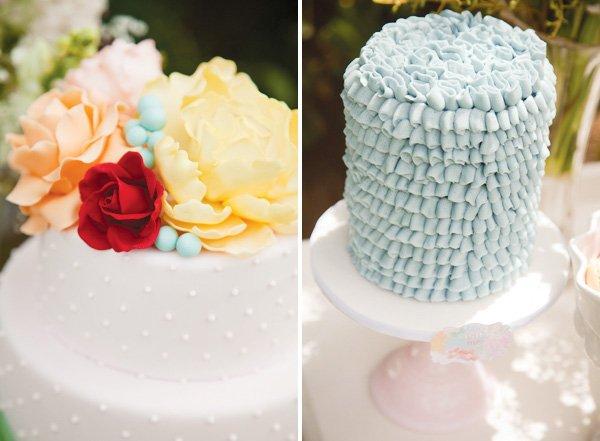 ruffle whimsical vintage cakes