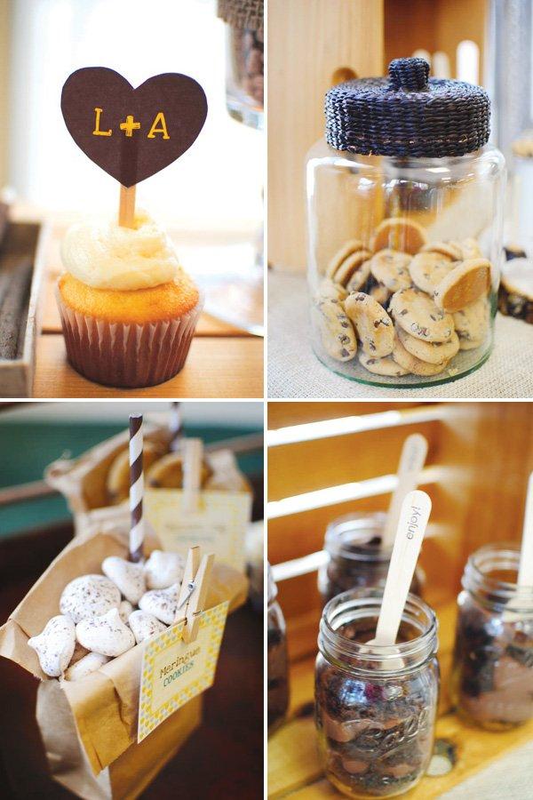 couples shower homemade desserts