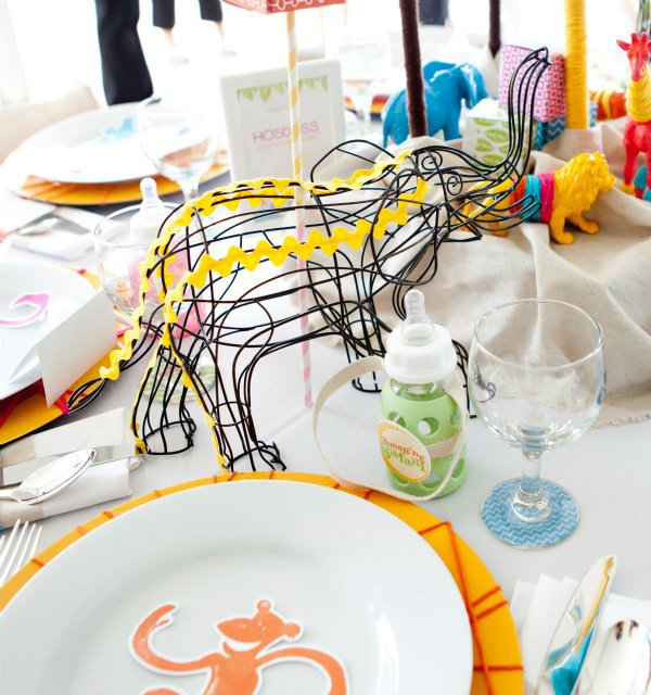 wire elephant baby shower centerpiece