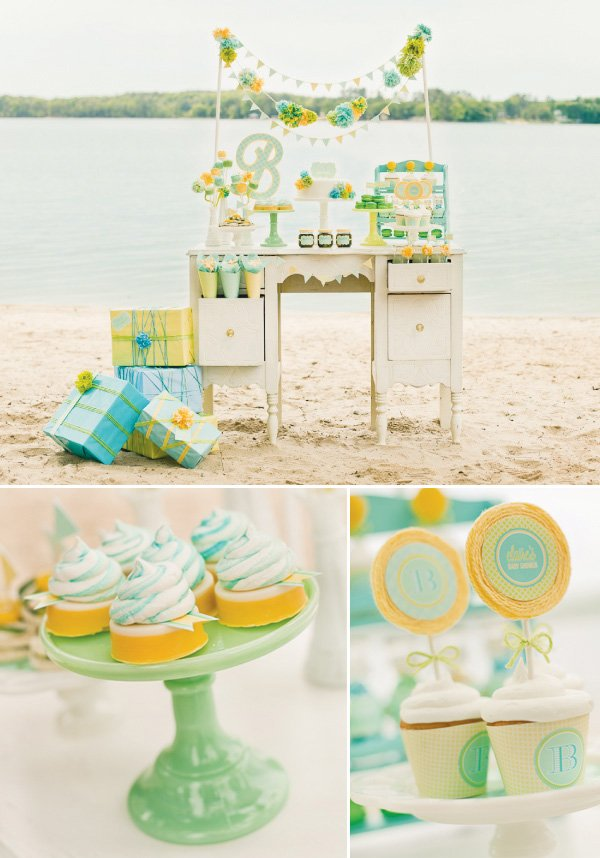 gender neutral baby shower sweets table