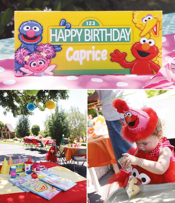 sesame street birthday party welcome sign