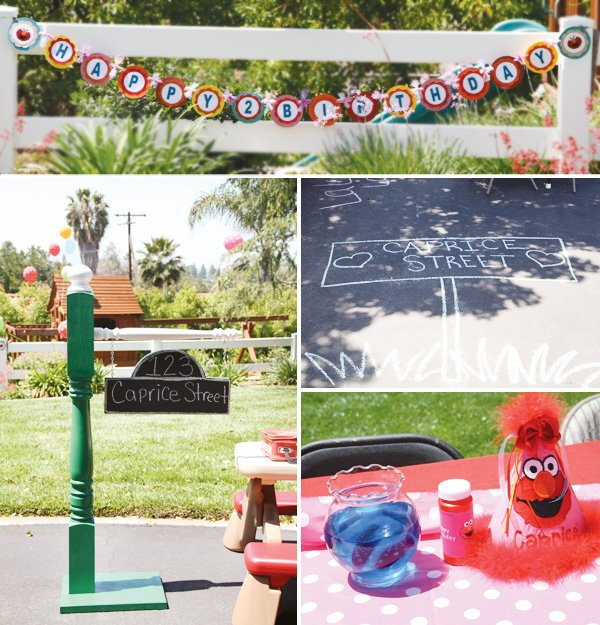 sesame street theme outdoor party decorations