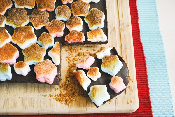 s'mores bars for memorial day with a patriotic twist