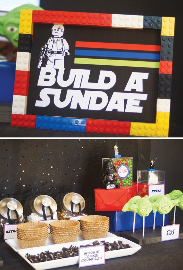 star wars lego party build a sundae bar