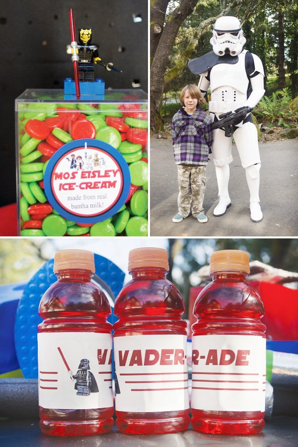 star wars lego party darth vader drinks