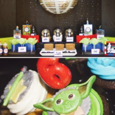 star wars lego party dessert table