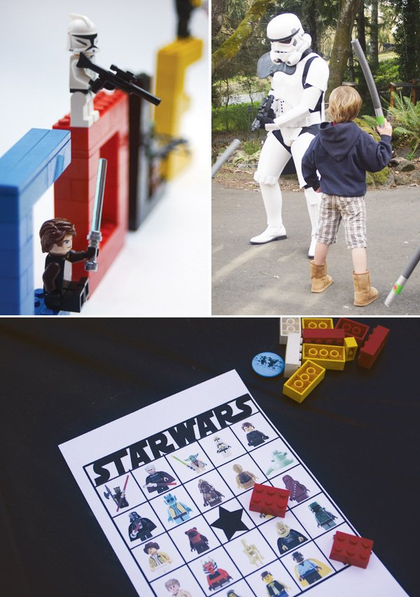 star wars lego party bingo and storm trooper games