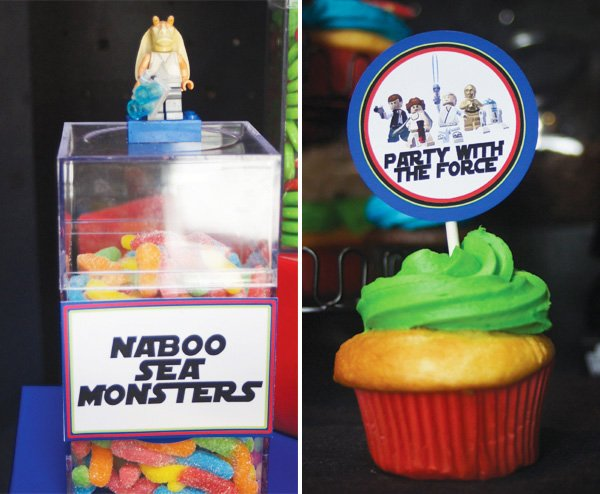 star wars lego party sweets