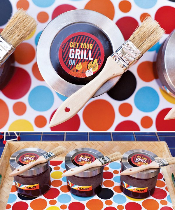 summer bbq sauce favors for a grilling party