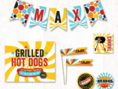 summer grilling adult birthday party printables collection from hostess ink